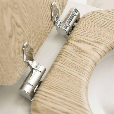 Tiger Toalettsits med mjuk stängning Scaffold MDF brun 252022546