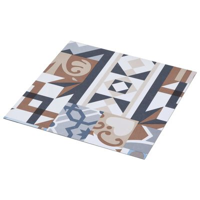 vidaXL Självhäftande golvplankor 20 st PVC 1,86 m² mono-mönster