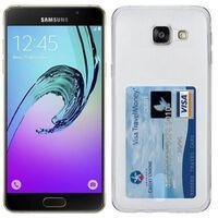 Silikon skal med kortplats Samsung Galaxy A7 2016 (SM-A710F) Transpare