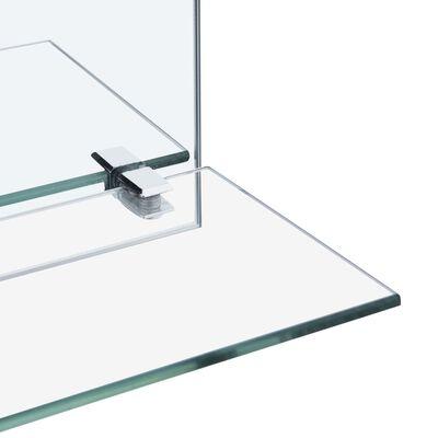 vidaXL Väggspegel med hylla 50x50 cm härdat glas