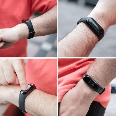 Xiaomi Mi Band 3/4 armband silikon svart