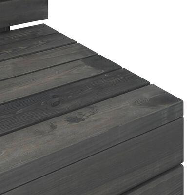 vidaXL Pallsoffgrupp 11 delar massiv furu mörkgrå
