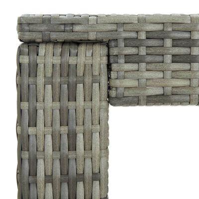 vidaXL Bargrupp för trädgården med dynor 3 delar konstrotting grå