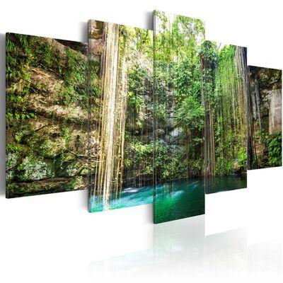 Tavla - Waterfall Of Trees - 200x100 Cm