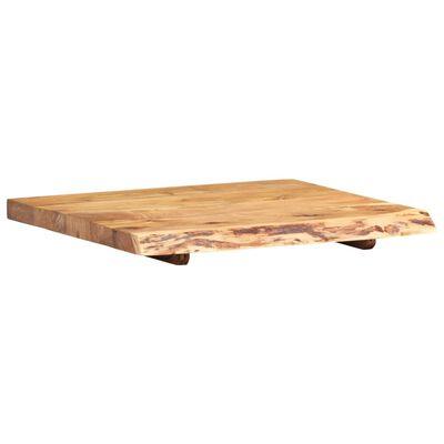 vidaXL Bänkskiva för badrum massivt akaciaträ 60x55x3,8 cm