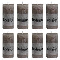 Bolsius Rustika blockljus 8 st 100x50 mm taupe