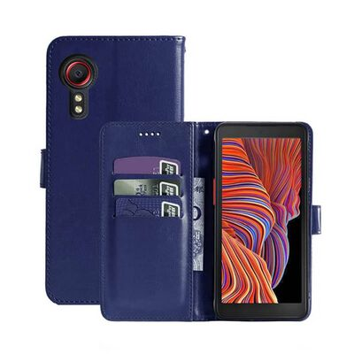 Mobilplånbok 3-kort Samsung Galaxy Xcover 5-brun