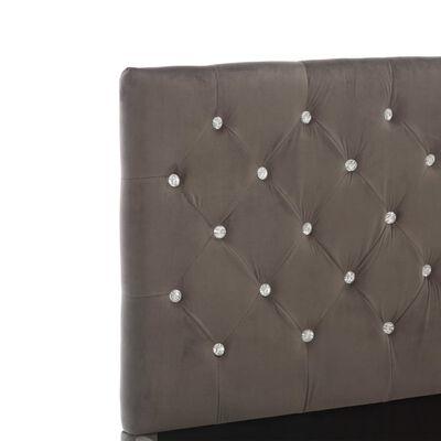 vidaXL Sängram grå tyg 180x200 cm