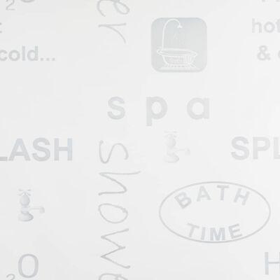 vidaXL Rullgardin för dusch 120x240 cm stänk