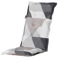 Madison Stolsdyna med hög rygg Triangle 123x50 cm grå