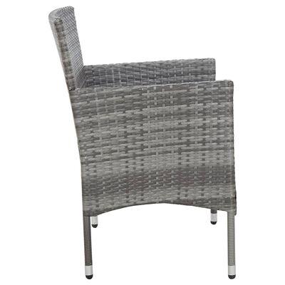 vidaXL Trädgårdsbänk 105 cm konstrotting grå