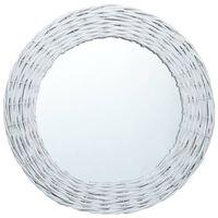 vidaXL Spegel vit 70 cm korgmaterial