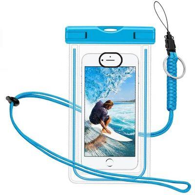 Vattentät mobilväska för smartphone - universal - blå