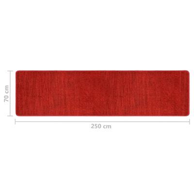 vidaXL Sovrumsmattor 3 st långhårig röd
