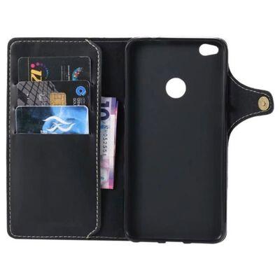 Mobilplånbok retro 3-kort Huawei Honor 8 Lite/P8 Lite 2017 Svart