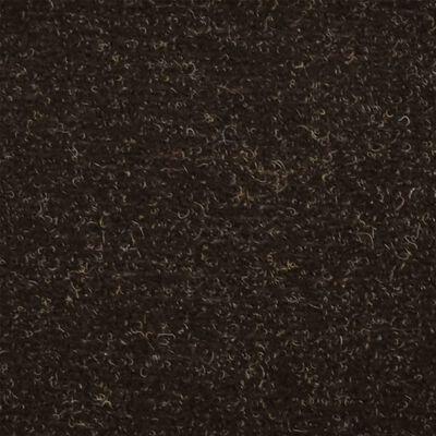 vidaXL Trappstegsmattor självhäftande 10 st mörkbrun 56x17x3 cm brodyr