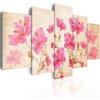 Tavla - Flowers In Pink - 100x50 Cm