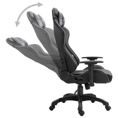 vidaXL Gamingstol grå konstläder