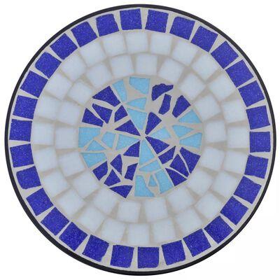 Sidobord Terrakotta blått, vitt 60 cm