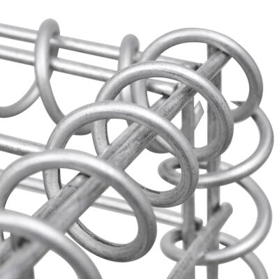 vidaXL Gabionkorg galvaniserat stål 300x30x100 cm