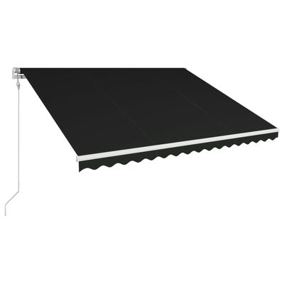 vidaXL Markis automatiskt infällbar 400x300 cm antracit