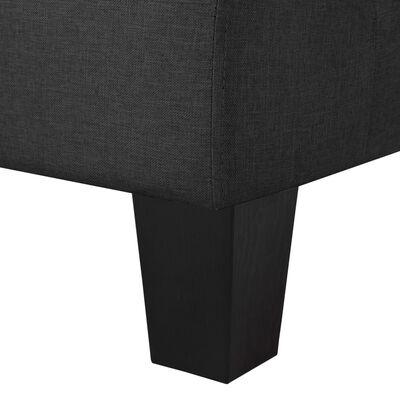 vidaXL 5-sitssoffa svart tyg