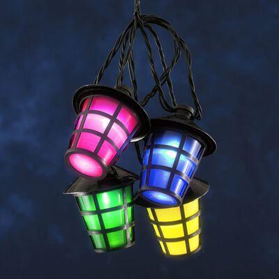 KONSTSMIDE Ljusslinga lyktor med 20 lampor flerfärgade
