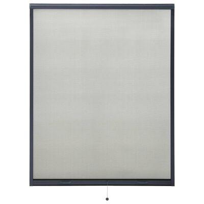 vidaXL Insektsnät för fönster antracit 140x170 cm