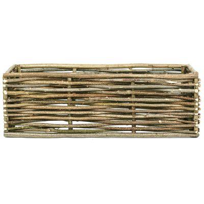 vidaXL Odlingslåda upphöjd 120x40x40 cm hasselträ