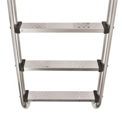 vidaXL Poolstege 3 steg rostfritt stål 304 120 cm