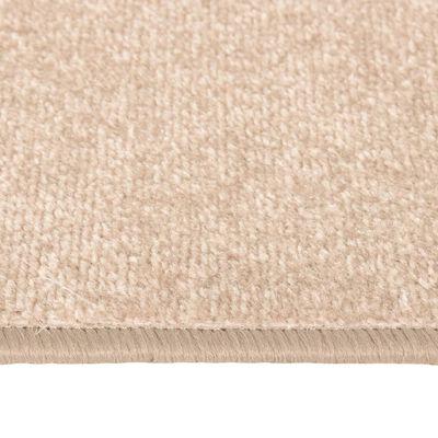 vidaXL Sovrumsmattor 3 st långhårig beige