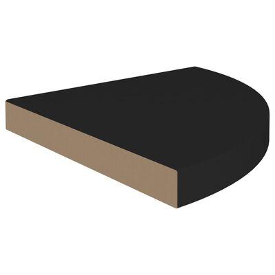vidaXL Svävande hörnhyllor 2 st svart 35x35x3,8 cm MDF