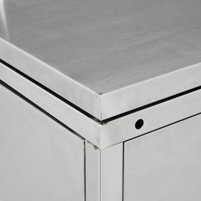vidaXL Skjul till ett sopkärl 240 L rostfritt stål