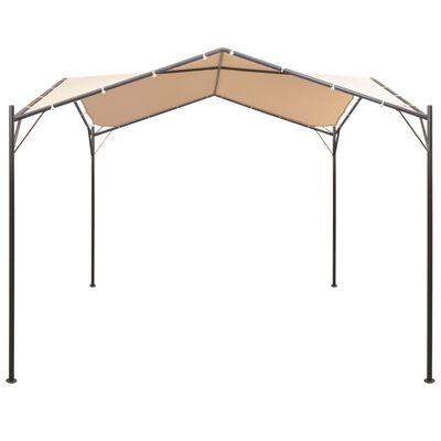 vidaXL Paviljong 3x3 m stål beige, Beige