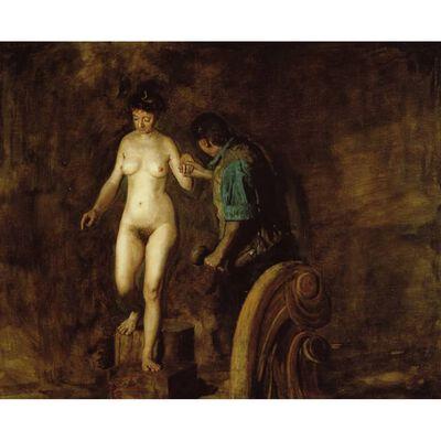 William and his Model,Thomas Eakins,50x40cm