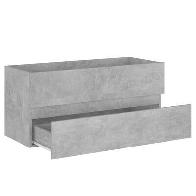 vidaXL Badrumsmöbler set betonggrå spånskiva