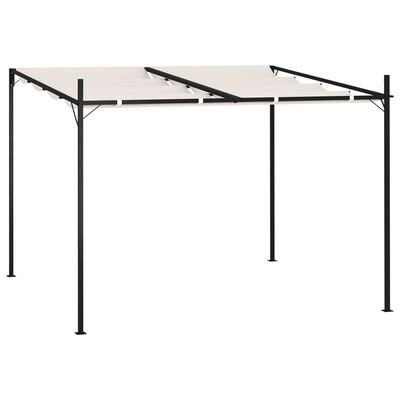 vidaXL Paviljong med infällbart tak 300x300x233 cm gräddvit