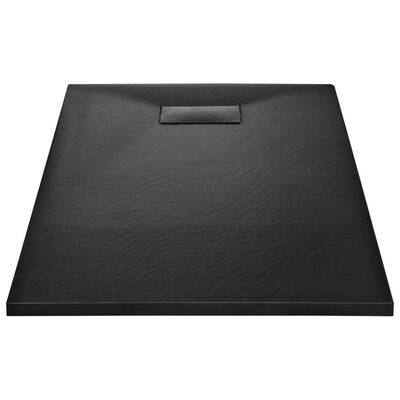 vidaXL Duschkar SMC svart 120x70 cm