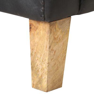 vidaXL Fåtölj svart äkta läder