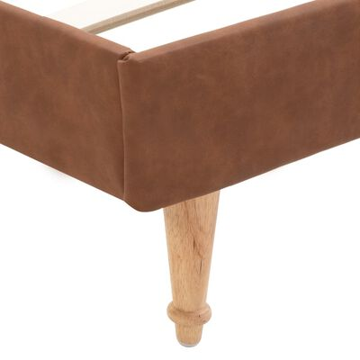 vidaXL Sängram brun tyg 140x200 cm
