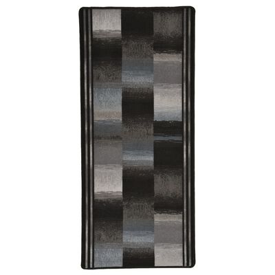 vidaXL Halkfri gångmatta svart 67x120 cm