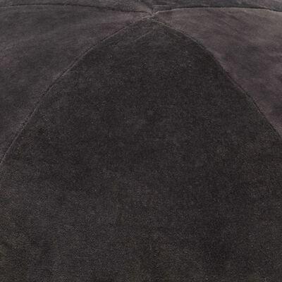 vidaXL Sittpuff bomullssammet 50x35 cm antracit