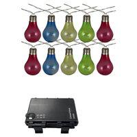 Luxform Partyslinga med 10 LED-lampor batteridriven flerfärgad 95111