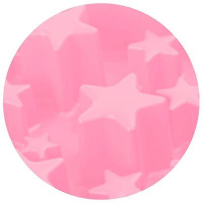 EAT SLOW LE LONGER Aktiveringsmatskål Star rosa S