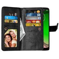 Dubbelflip Flexi 9-kort Motorola Moto G7 Play (XT1952) Svart