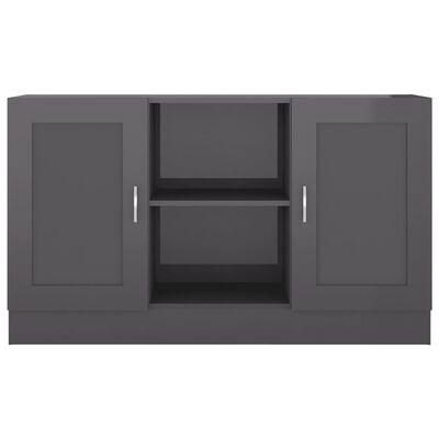 vidaXL Skänk grå högglans 120x30,5x70 cm spånskiva