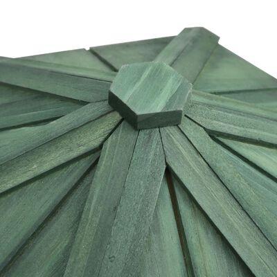 vidaXL Fågelmatare oktagonal massivt granträ 33x30 cm