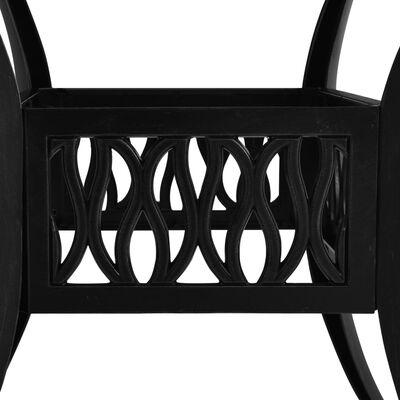 vidaXL Trädgårdsbord svart 90x90x73 cm gjuten aluminium