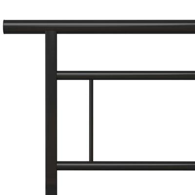 vidaXL Sängram svart metall 160x200 cm