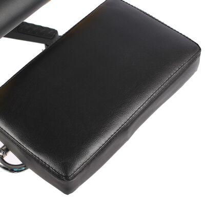 vidaXL Snurrbar gamingstol med fotstöd svart PVC